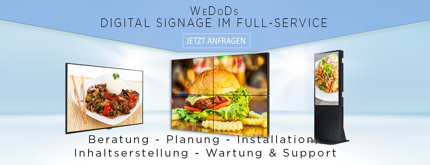 Digital-Signage-Stele-Kundenstopperr-LED-Videowall-Display-wedods-hd1