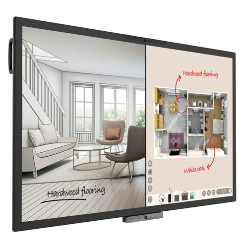 BenQ-CP6501K-DuoBoard-65-Zoll-320-cd-m-3840x2160-20-Punkt-Touch-Display-Videokonferenz-Kamera-Mikrofone