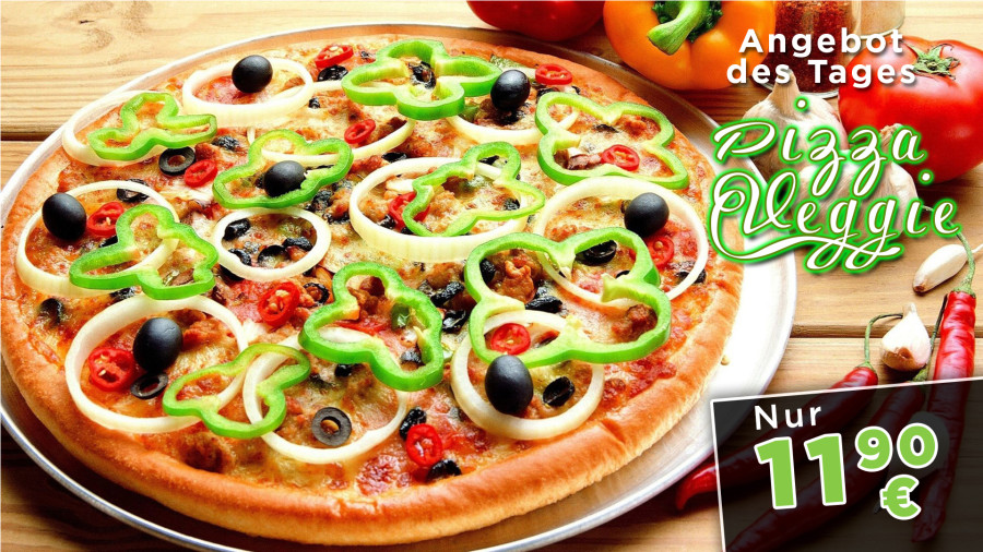 Grafik Ausarbeitung - Pizza - Display Werbung