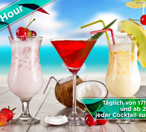 Grafik Ausarbeitung - Cocktails - Display Werbung