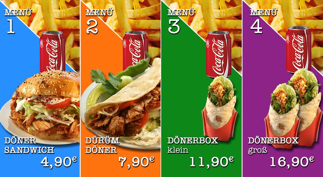 Grafik Ausarbeitung - Fastfood Menü Display - Display Werbung